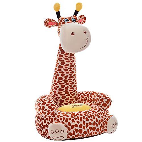 OAMORE fauteuil slaapbank dier voor kinderen in outdoor zitzakken kussen sofa kussen kruk zitkussen vloerkussen vulling meubels 43 * 45 * 35cm Giraffe