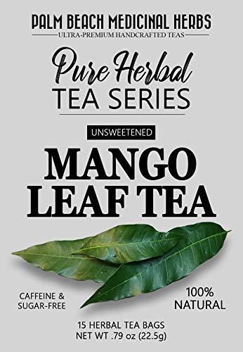Mango Leaf Tea - Pure Herbal Tea Series by Palm Beach Medicinal Herbs (30 Tea Bags) 100% Natural