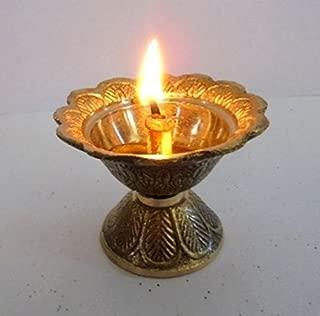 Artcollectibles India Lot de 2/Laiton Chirag Aladdin Genie Lampe /à Huile en m/étal Aladin D/écoration pour No/ël Cadeau de Diwali