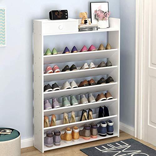Ranura de calzado ajustable Organizador de zapatos Estante de zapatos Gabinete de almacenamiento de zapatos portátil, espacio de ahorro, adecuado para zapatos, botas, zapatillas Estante de zapatos Org