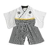 Aenak 袴ロンパース 白 70cm