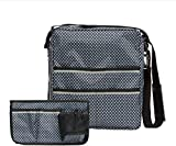 Pacmaxi Wheelchair Bag Sets- Wheelchair Backpack & Side Bag– Convenient Wheelchair Accessories for Armrest-Storage and Collect Item (Navy Blue with Starry Print)