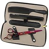 FOMALHAUT Ciseaux de coiffure avec poignées en forme de main Japonais 440C Ciseaux à cheveux en acier