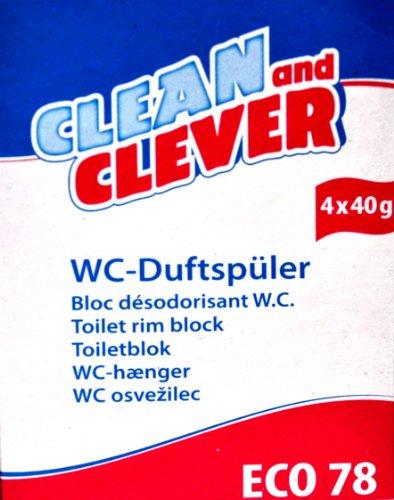 ECO78 WC-Duftspüler 4er Pack, CLEAN and CLEVER Citrusfrische