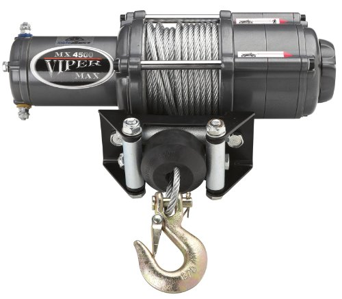 MotoAlliance VIPER Max ATV/UTV Winch 4500lb with 50 feet Steel Cable