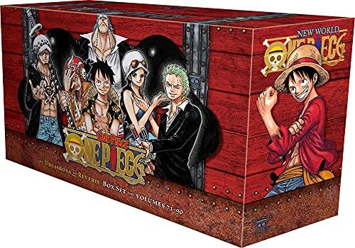 One Piece Box Set 4: Dressrosa to Reverie: Volumes 71-90 with Premium (4) (One Piece Box Sets)