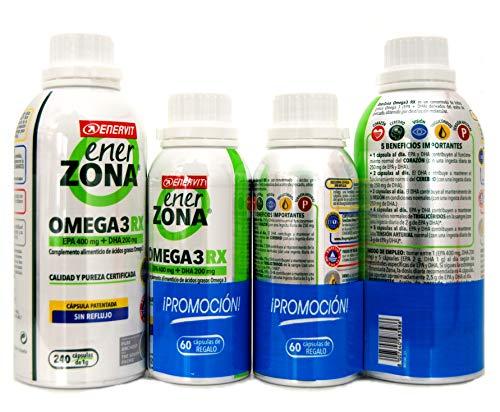 Enerzona Omega 3RX1gr| EPA 400 mg+DHA 200 mg| 240capsulas + Regalo 60capsulas.- PACK 2UN