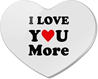 I Love You More with Heart Heart Acrylic Fridge Refrigerator Magnet