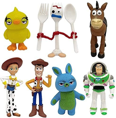 COXCAT Juguetes Niños Suministros Divertidos para Fiestas para niños Pequeños, Juego de Decoración para Tartas para Cumpleaños muñecos