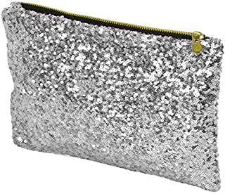S&E Glitter Bling Sequins Clutch Evening Party Bag Handbag