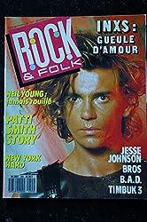 ROCK & FOLK 255 SEPTEMBRE 1988 COVER INXS NEIL YOUNG POSTER Patti SMITH Jesse Johnson Bros B.A.D. Timbuk 3