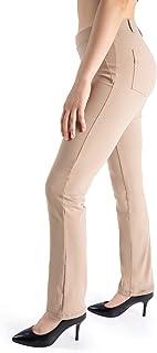 Yogipace, Belt Loops, Women's Petite/Regular/Tall Dress Pant Straight Leg Yoga Work Pants Slacks Back Pockets Office Commute Travel