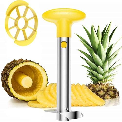 SLKIJDHFB Pineapple corer, Stainless Steel 3-in-1 Pineapple Peeler Slicer tool Detachable Wedge for home and kitchen