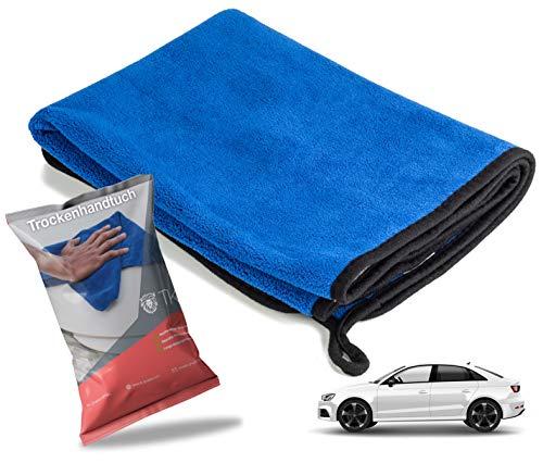 TK Gruppe Timo Klingler XXL Microfaser Auto Poliertuch Mikrofaserhandtuch Handtuch zur Politur & Trocknung Mikrofasertuch Auto Reinigung (1x)