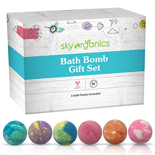 Sky Organics 6-Piece Bath Bomb Gift Set with Natural Essential Oils - $19.99