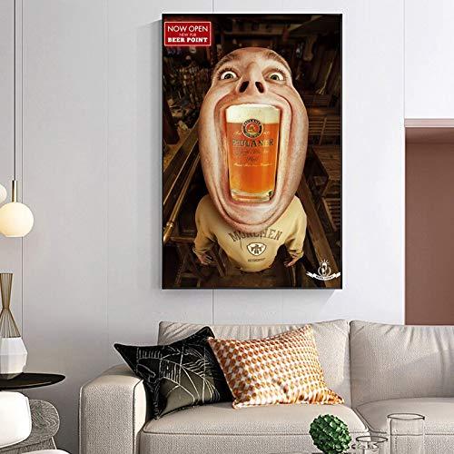 zhuziji Imprimir Cuadros Creativa Capital cervecera Alemana, Munich aristocrática mundialmente Famosa Paintings HD Imprimir Regalo Art Poster Home Modern Decoration 60x90 cm(Sin Marco)