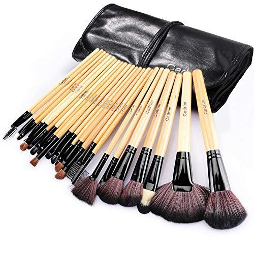 Pennelli Make Up,Cadrim 24 pezzi Set di pennelli professionali...