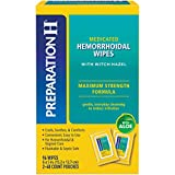 Preparation H Flushable Medicated Hemorrhoid Wipes, Maximum Strength Relief with Witch Hazel & Aloe, Pouch (2 x 48 Count, 96 Count)