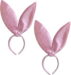 Candy Apple Costumes Pink Satin Bunny Ears Headband - Multi-Pack