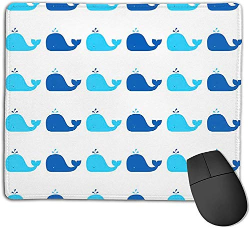 Gaming Mouse Pad, Blue Whale Mouse Mat Personalisierte Anpassung Gaming und Office Mouse Mat Stitched Edge Office Thicker Mouse Pad