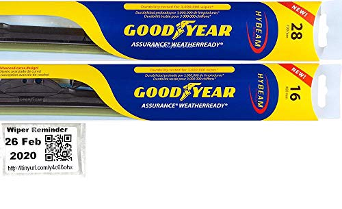 Windshield Wiper Blade Set/Kit/Bundle for 2007-2018 Nissan Altima - Driver & Passenger Blades & Reminder Sticker (Assurance WeatherReady)