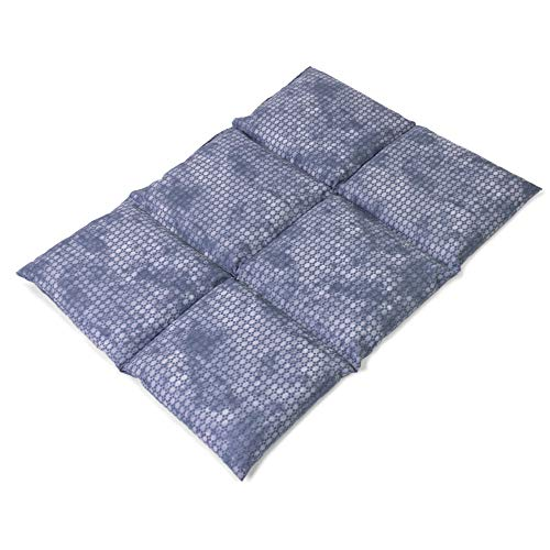 Saco térmico con semillas de colza 40x30cm compartimentado en 6 - used look gris azulado - Almohada térmica para microondas - Calor y frío - Cojín térmico con semillas