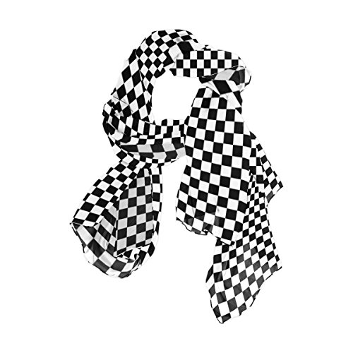 WellLee Custom Oblong Chiffon Scarf, Abstract Molecules Science Technology Shawl Wrap Sheer Scarves for Outdoor, Plaid01, 180x90