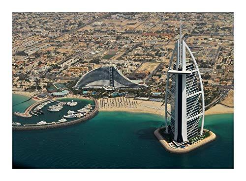 Puzzle World Famous Sehenswürdigkeit Arab Tower - 300/500/1000 Stück Jedes Stück perfekt zueinander passt, Umweltfreundliche Dekorative Malerei Luftaufnahme (Size : 1000pcs )