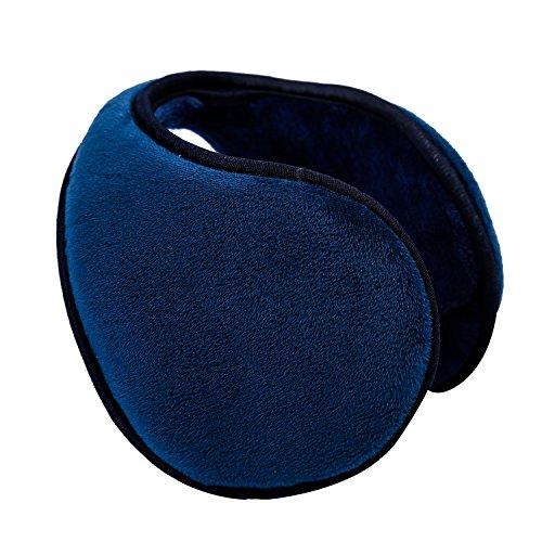 HIG Ear Warmer Unisex Classic Fleece Earmuffs Winter Accessory Outdoor Earmuffs (Blue)
