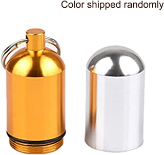 Morninganswer Boîte de rangement de médicaments avec porte-clés - Portable - Étanche - En aluminium - Outil d'urgence en p...