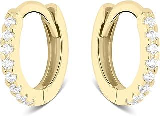 گوشواره گل میخ طلای Highstreet Solid Real 14K   ضد حساسیت برای لباس روز   چندین سبک و گرایش مد برای همه موارد