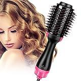 Singerhuas Brosse Soufflante, Brosse Chauffante Lissante, 3 en 1 Seche Cheveux Electrique Multifonctionnels Fer à Friser Défrisant Bigoudi et Styler Brosse à Cheveux à Ions NéGatifs