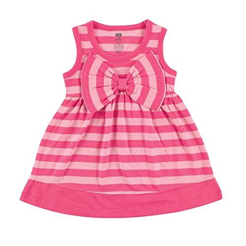 Hudson Baby Girls' Dress with Waist Bow, Pink, 12-18 Months