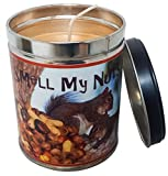 Our Own Candle Company Banana Nut Bread Scented Candle in 13 Ounce Tin with a Smell My Nuts Label