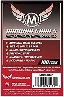 Mayday Games Mini Chimera Game Sleeves, 43 x 65mm, Red