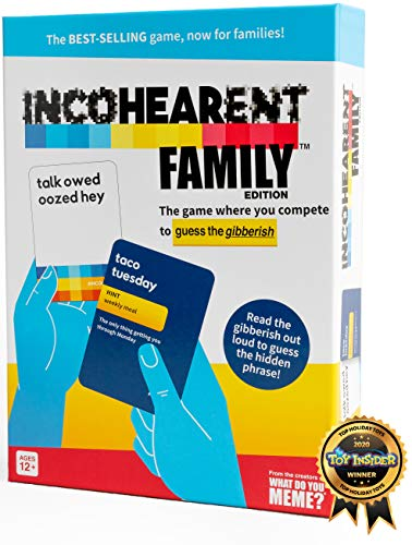 Incohearent Family Edition  The Family Game Where You Compete to Guess The Gibberish  by What Do You Meme Family