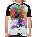 Audry A Aeorge Zedd Men's Short Sleeve T Shirt Quick Drying Baseball Tee XXL Black
