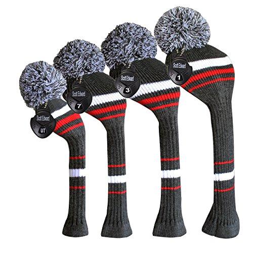 Scott Edward Knitted Golf Headcover Set 4