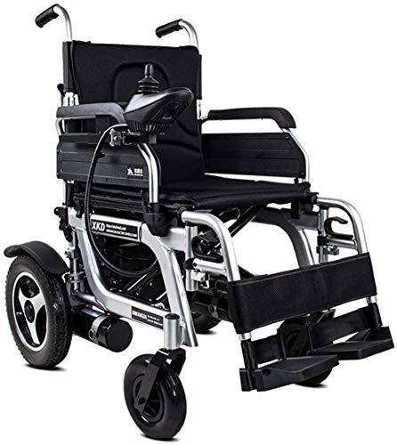 Silla de ruedas eléctrica plegable Silla de ruedas eléctrica plegable (Controlador lado derecho) - Compact Power ayuda a la movilidad sillas de ruedas, velocidad 1-8Km / H, Carga máxima 120Kg Para via