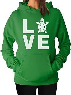 TeeStars - I Love Turtles - Animal Lover Turtle Print Cute Women Hoodie