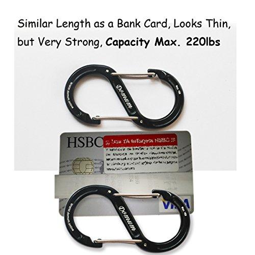 5pcs S-Style Carabiner Alloy Metal Electroplate Ganchos de liberaci/ón r/ápida para Viajar