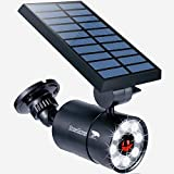 Solar Motion Sensor Light Outdoor Aluminum, 1400-Lumens 9W LED(130W Equi.), 2-Mode Spotlight, Solar Flood Emergency Security Lights for Driveway Patio Path Garden, 100-Week 100% Free Replacement