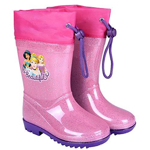 Botas Agua Princesas Disney - Botines Niñas Impermeables Cenicienta Rapunzel...
