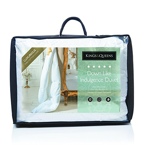 Luxurious Kings & Queens Hypoallergenic Down Like Indulgence Duvet 10.5 Tog Quilts - Super King Size