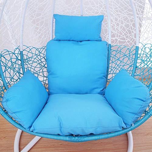BLSTY Hangende Eierstoel Hangende stoel Stoel Kussen, Comfortabele Ergonomische Hangstoel Kussen voor Opknoping mand Rieten Stoel Terug Kussen 100x100Cm(39x39Inch) C
