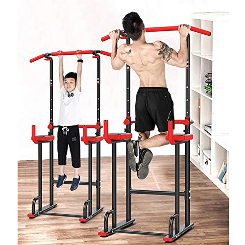 Nisorpa Power Tower Dip Station Pull Up Bar for Home Gym Multi-Function Strength Training Workout Fitness Equipment