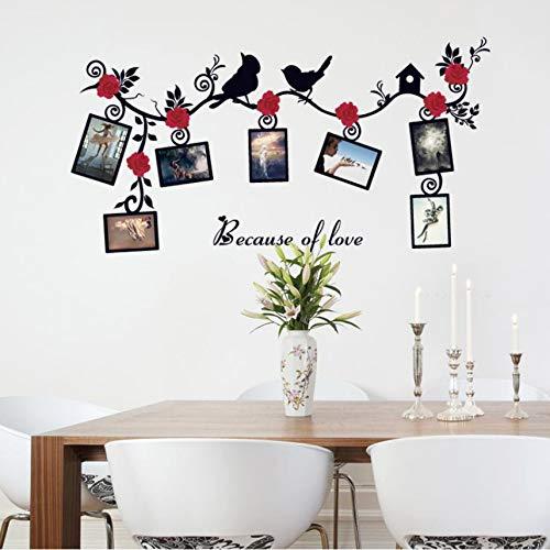 Cczxfcc Rose Fotolijst, doe-het-zelf, muursticker, wooncultuur, slaapkamer, koelkast, sticker, vogel, muurtattoos, wandafbeelding, poster