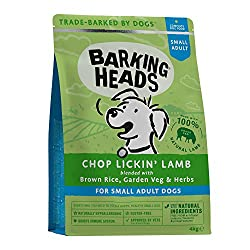 """100% NATURAL GRASS-FED LAMB - Our Chop Lickin' Lamb dry dog food is made for small dogs with 100% natural grass-fed lamb blended with a seriously yummy combination of garden veg and herbs, this lamb dinner isn't called chop lickin"""" for nothing! NATUR..."""