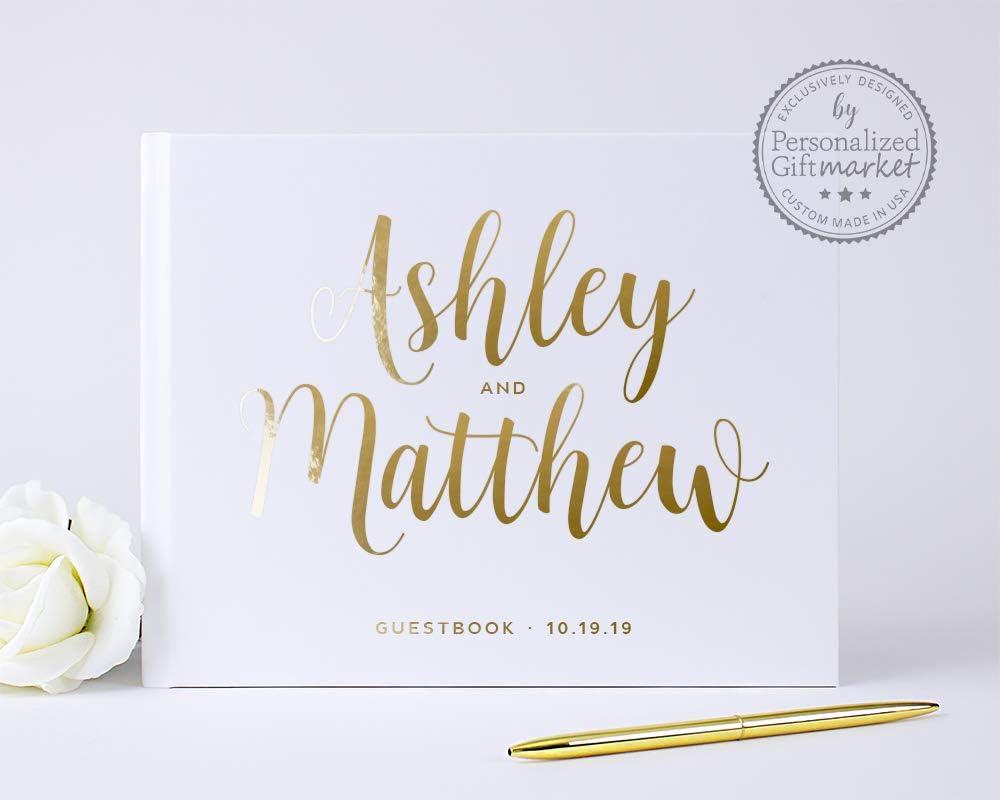 安心と信頼 お気にいる Wedding Guest Book Personalized or Photo Sign-in Album