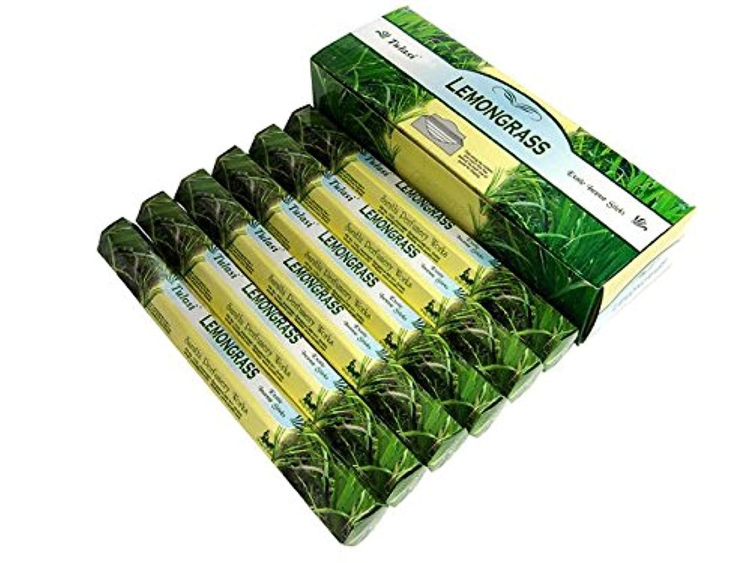 に話すその日付TULASI(トゥラシ) レモングラス香 スティック LEMONGRASS 6箱セット